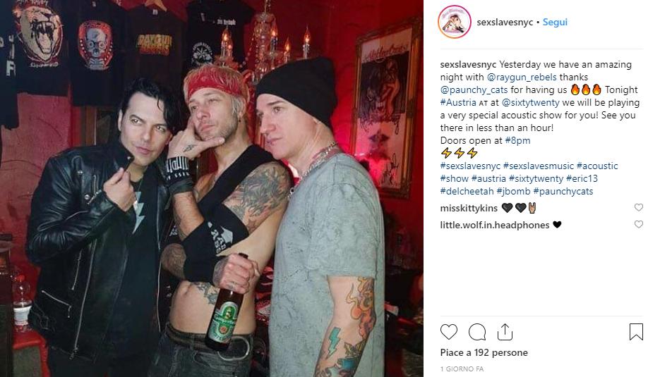 Sex Slaves, la band Newyorkese sbarca a Torino