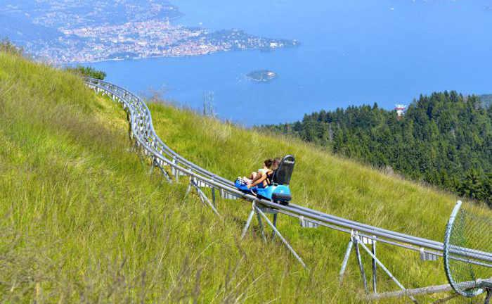 In Piemonte le montagne russe mozzafiato a picco su un monte. Assolutamente da provare