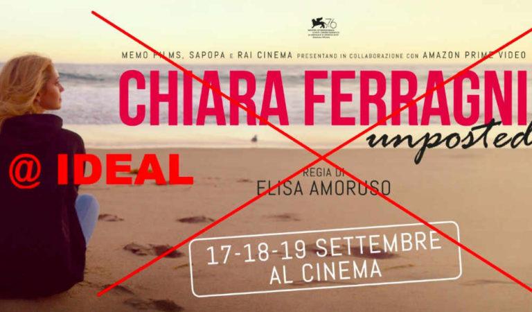 Chiara Ferragni a Torino: l'Ideal Cityplex non proietterà il suo docufilm Unposted. Ecco perché