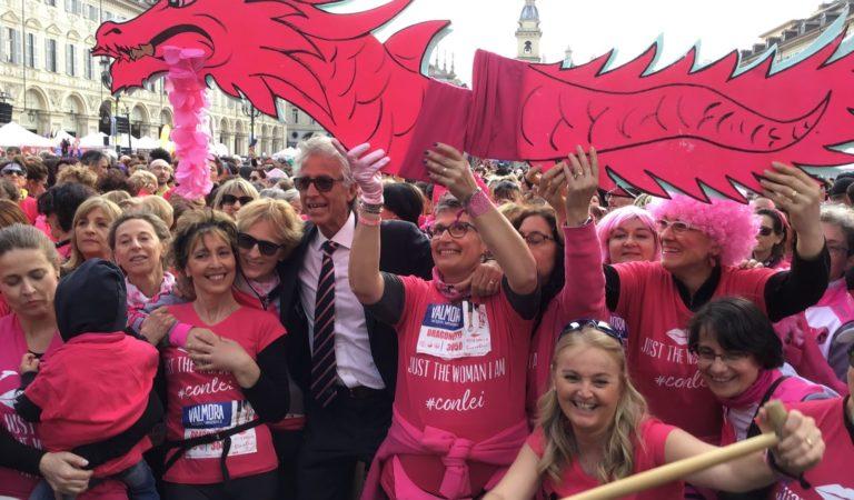 """La mole si vestirà di rosa per la settima edizione di """"Just the woman I am"""" la corsa di cus Torino per la ricerca sul cancro"""
