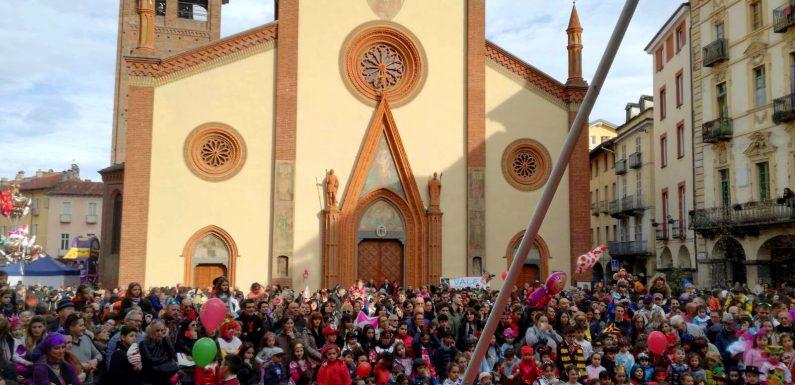 Un momento del Carnevale di Pinerolo