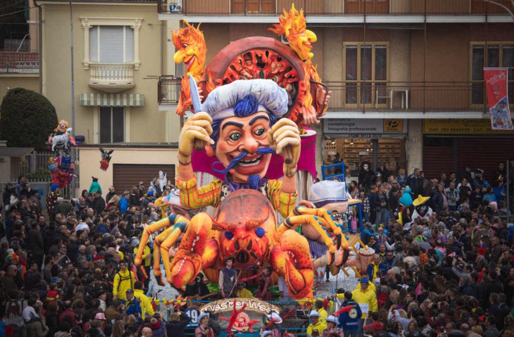 Un momento del Carnevale Storico di Santhià