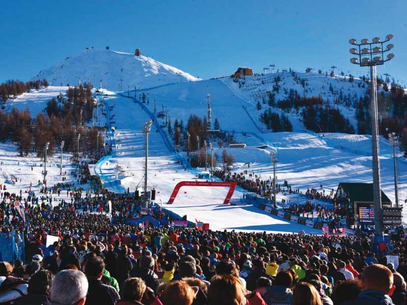 La Coppa del Mondo di sci alpino femminile a Sestriere (Torino)