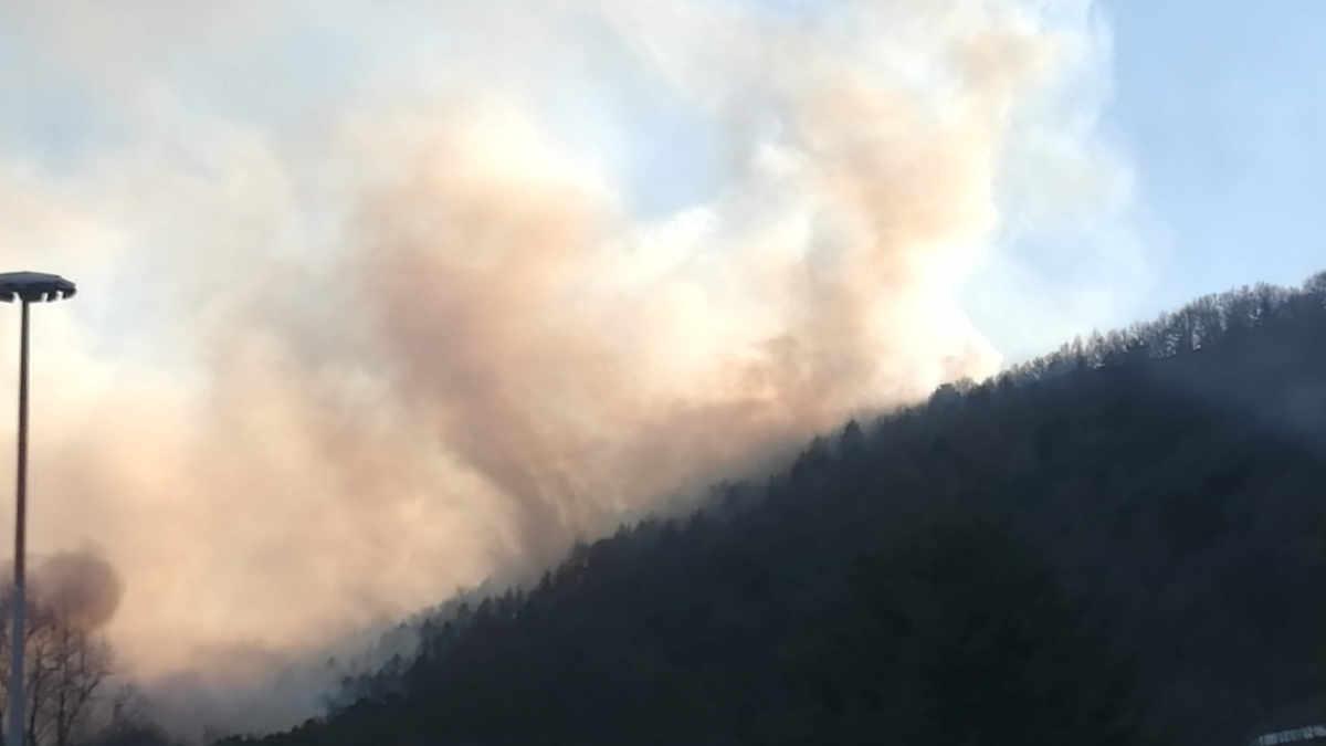 Incendio Caselette Val della Torre