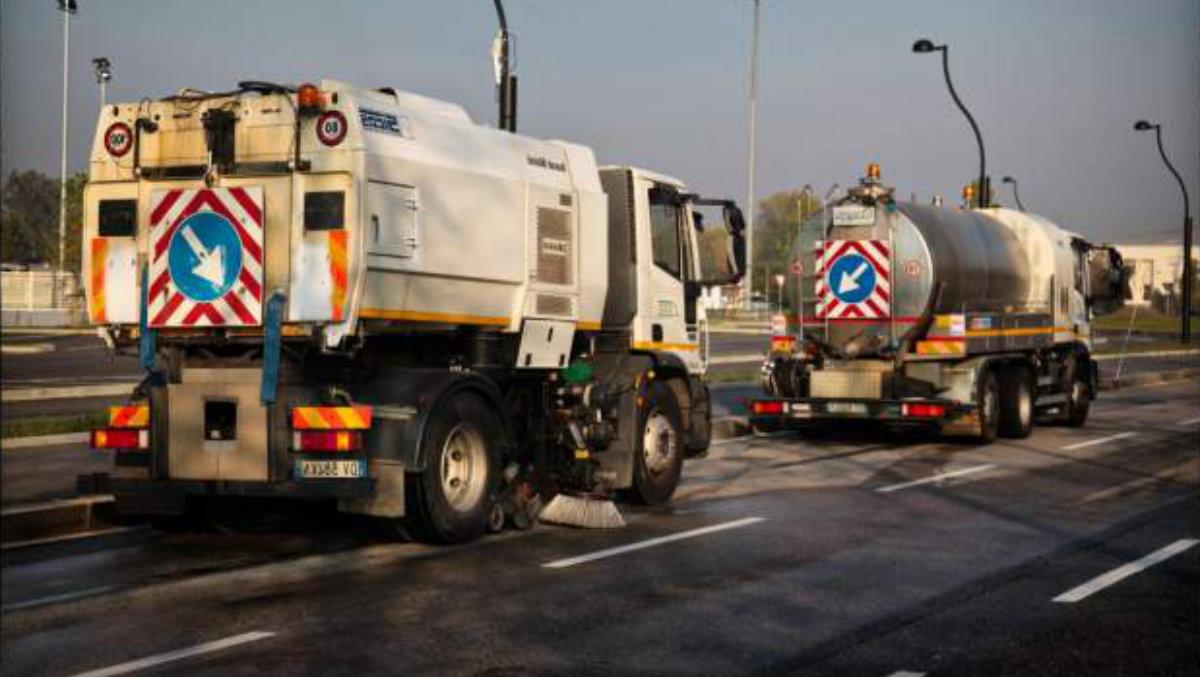 Disinfezione strade Torino