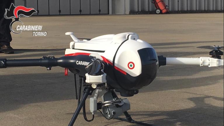 Drone carabinieri Torino
