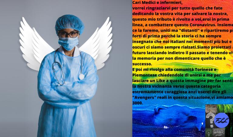 Tributo a tutti i medici e infermieri in prima linea contro il Covid-19