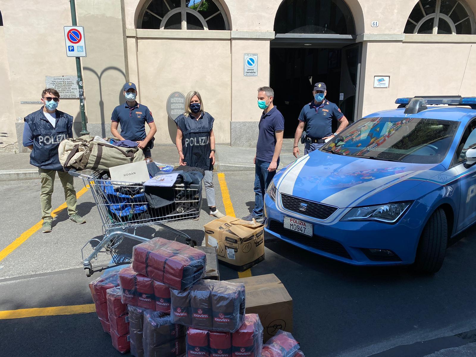 Alimenti e capi d'abbigliamento sequestrati vengono donati al Sermig
