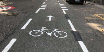 La ciclabile di corso Vittorio a Torino