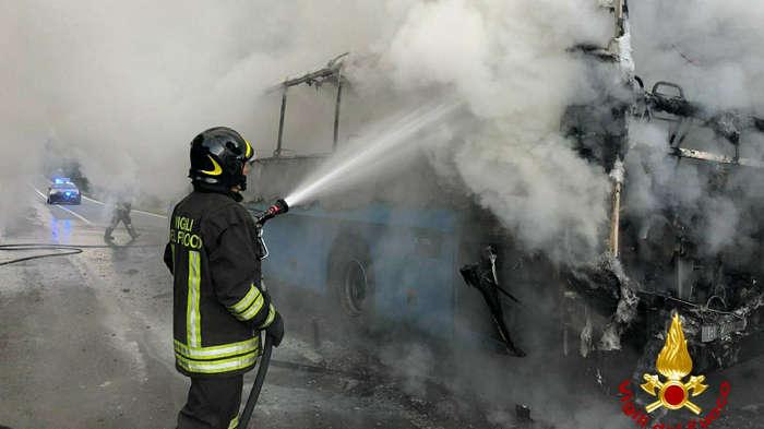 Incendio bus Gtt