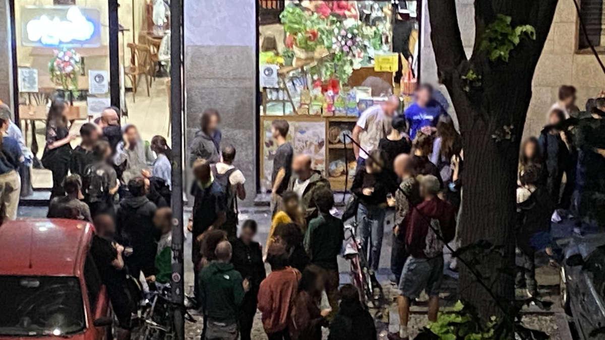 Movida in corso Brescia a Torino