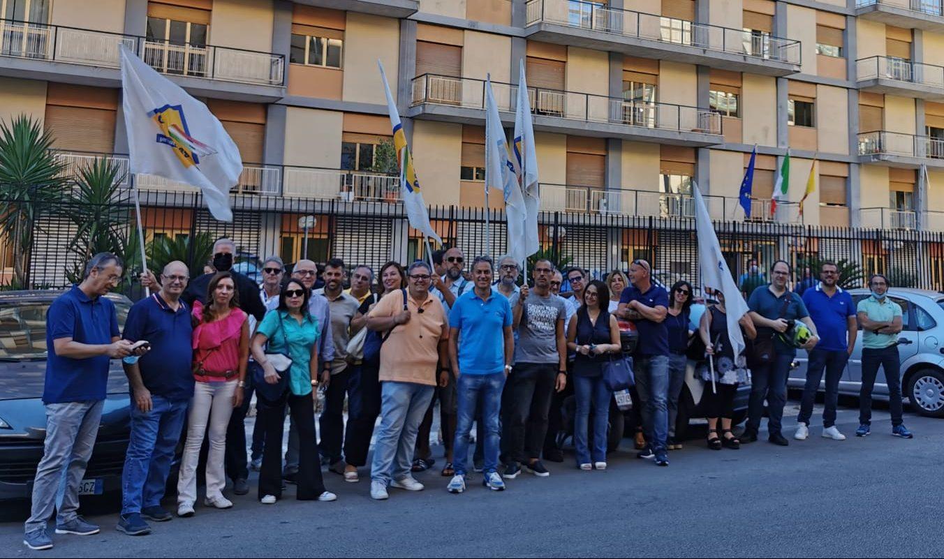 La protesta degli operatori sanitari in Piemonte