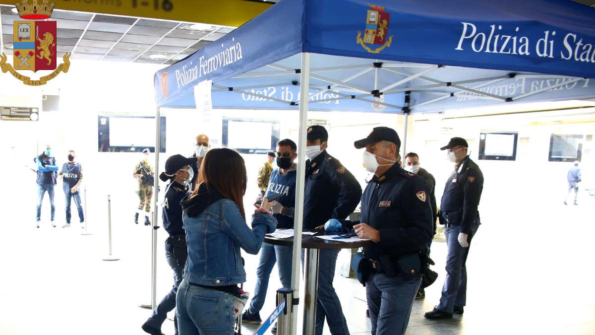 Controlli della Polizia a Torino