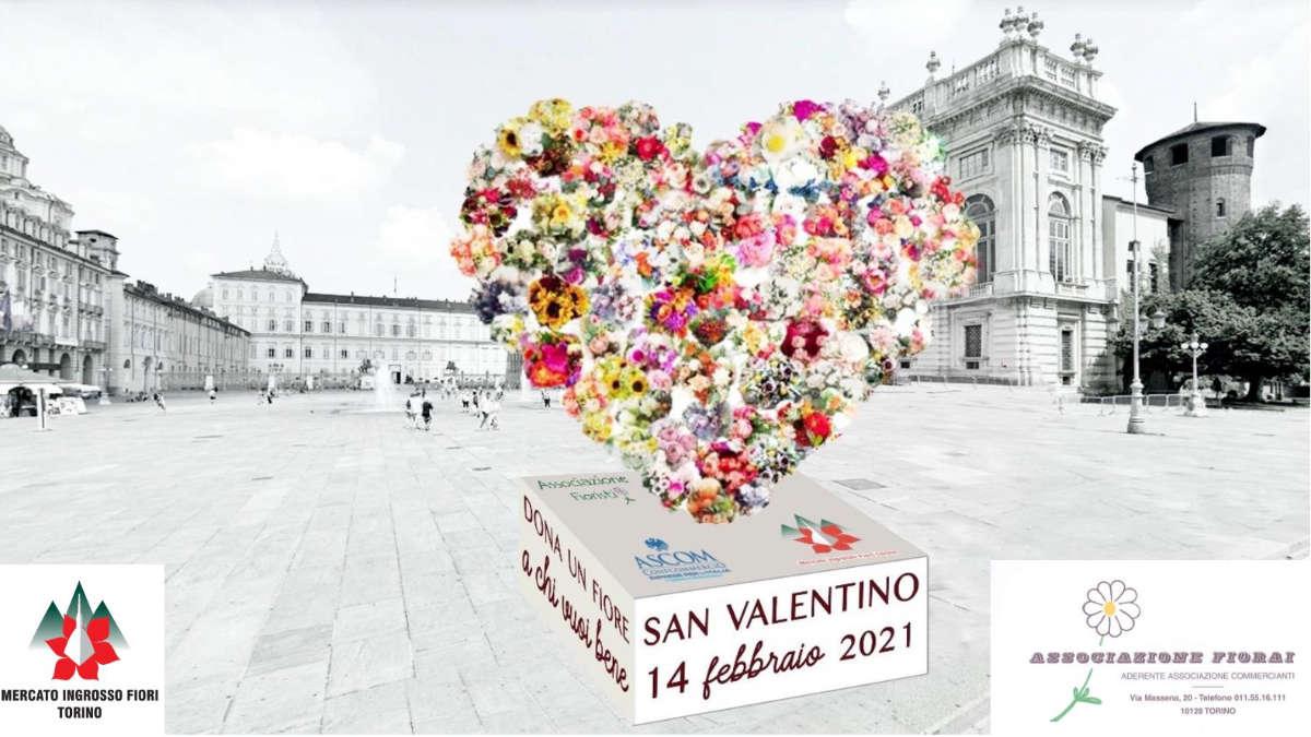 Cuore di fiori a San Valentino