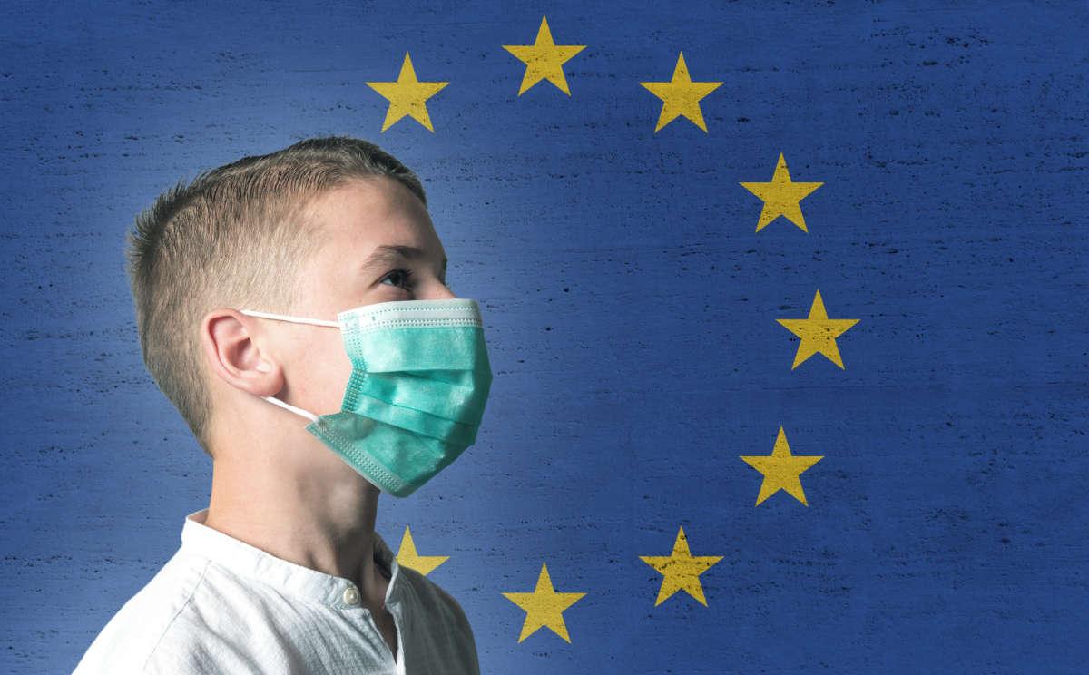 UE e zone rosso scuro in Italia