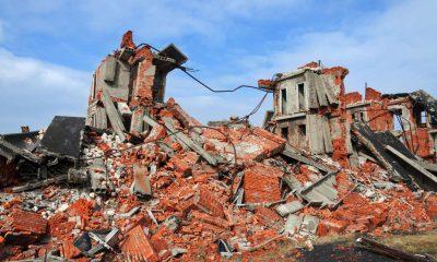 Crolla edificio a Nizza Monferrato