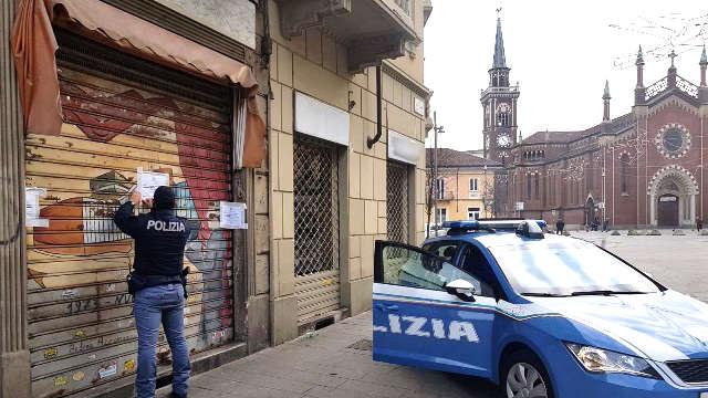 Locale chiuso dalla polizia a Torino