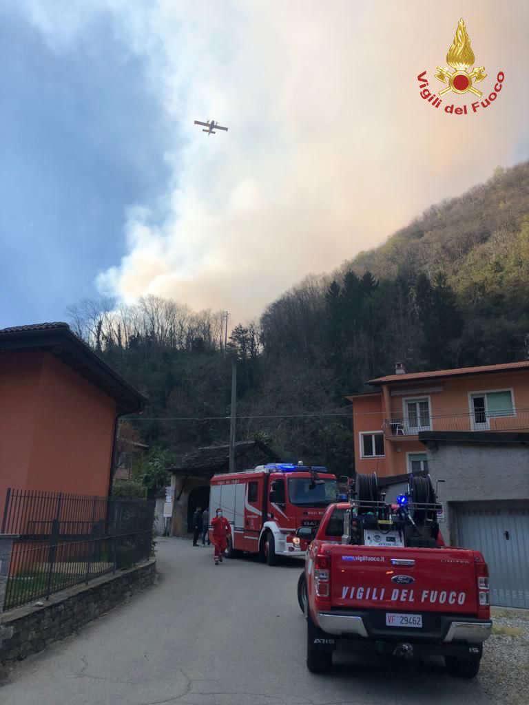 L'incendio nel Verbano