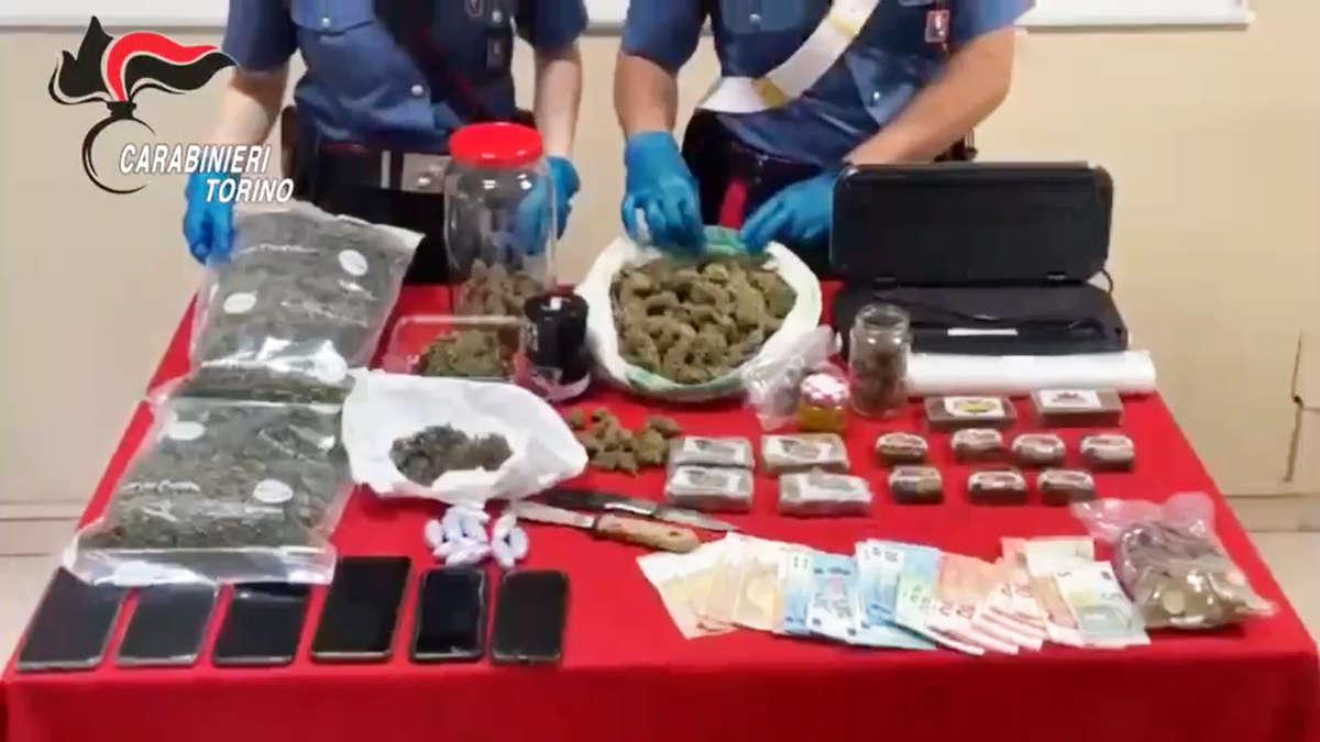 Market della droga nel Canavese