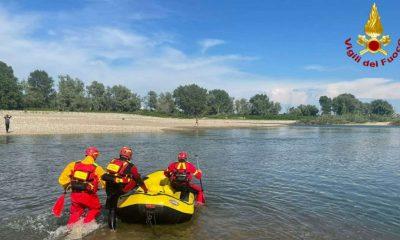 Vigili del Fuoco sul fiume Sesia